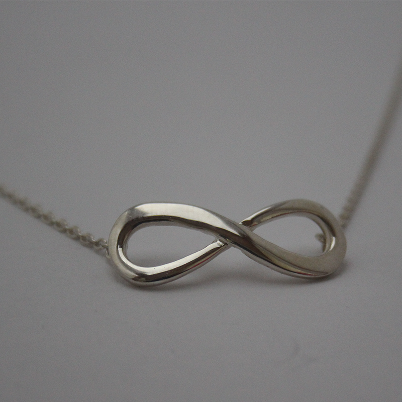 925 Sterling Silver Infinity Symbol Necklace B M Jewellery